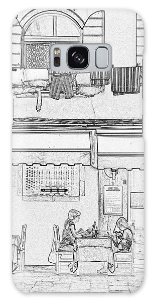 Galaxy Case - Venice Dining Pen And Ink 4313 by Bob Neiman