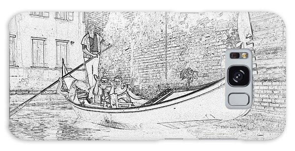 Galaxy Case - Venice Gondola Pen And Ink 4373 by Bob Neiman