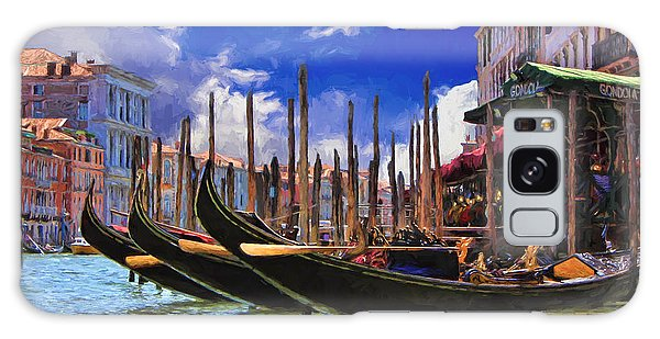 Venice Gondolas Galaxy Case by Ron Grafe