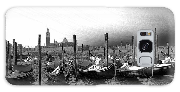 Venice Gondolas Black And White Galaxy Case