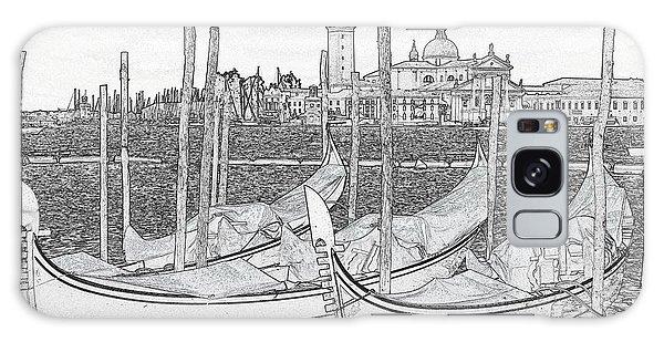 Galaxy Case - Venice Gondolas Pen And Ink by Bob Neiman