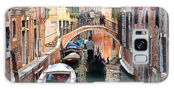 Venice Gondolier Galaxy Case by Frozen in Time Fine Art Photography