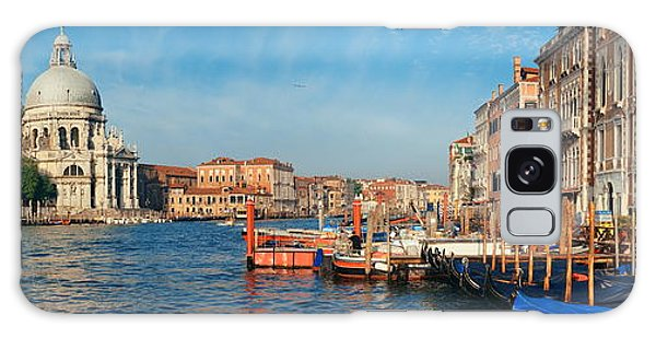 Galaxy Case featuring the photograph Venice Grand Canal Boat by Songquan Deng