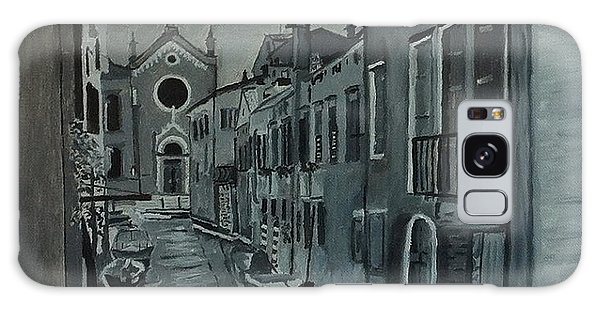 Venice In Grey And White Galaxy Case by Rod Jellison