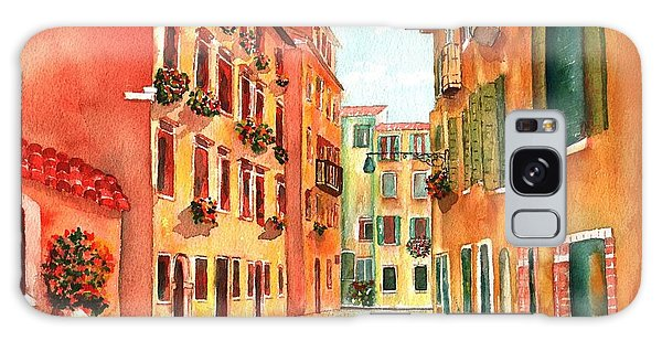 Venice Italy Street Galaxy Case by Sharon Mick