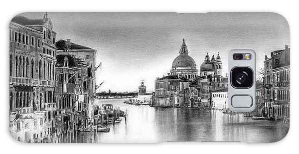 Venice Pencil Drawing Galaxy Case