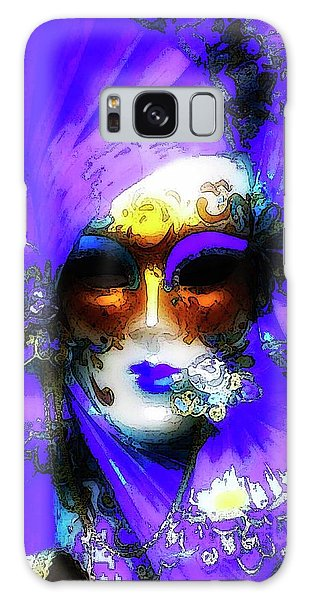 Venice Purple Carnival Mask Galaxy Case