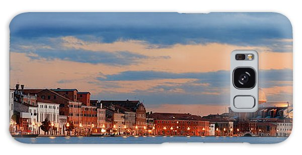Galaxy Case featuring the photograph Venice Skyline Panorama At Night by Songquan Deng