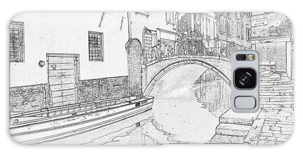Galaxy Case - Venice Small Canal Pen And Ink 4303 by Bob Neiman