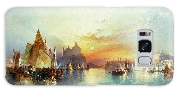 Docked Boats Galaxy Case - Venice by Thomas Moran