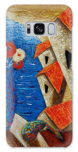 Galaxy Case featuring the painting Ventana Al Mar by Oscar Ortiz