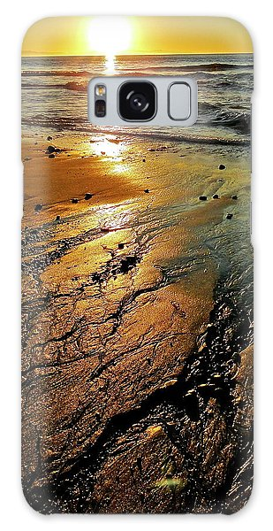 Ventura Beach Winter Sunset Galaxy Case