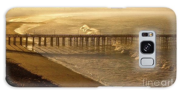 Ventura, Ca Pier At Sunrise Galaxy Case