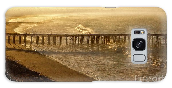 Ventura, Ca Pier At Sunrise Galaxy Case