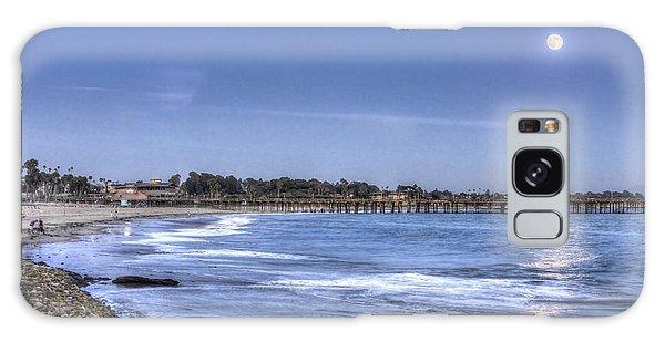 Ventura Pier Moonrise Galaxy Case by Joe  Palermo
