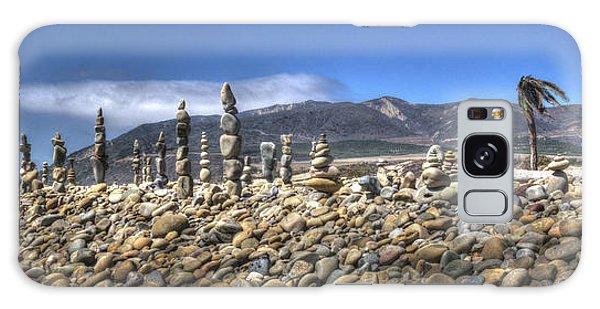 Ventura River Rock Art Panorama  Galaxy Case by Joe  Palermo