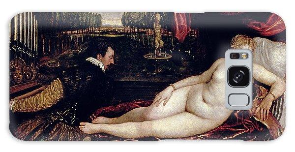 Venus Galaxy Case - Venus And The Organist by Titian