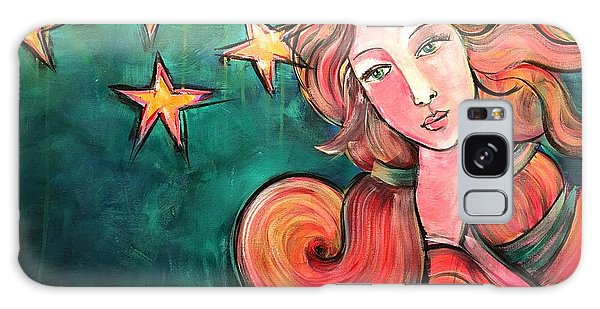 Galaxy Case featuring the painting Venus Of The Stars by Laurie Maves ART