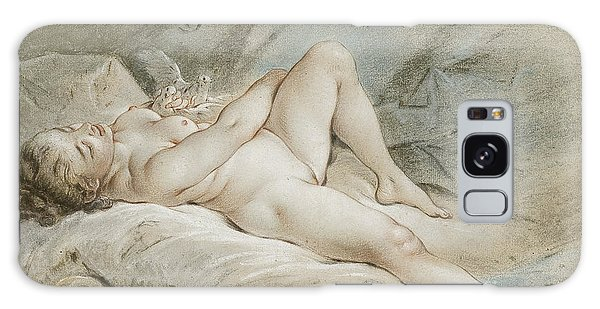 Venus Galaxy Case - Venus Playing With Two Doves by Francois Boucher