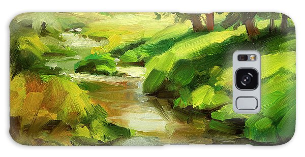 Galaxy Case featuring the painting Verdant Banks by Steve Henderson