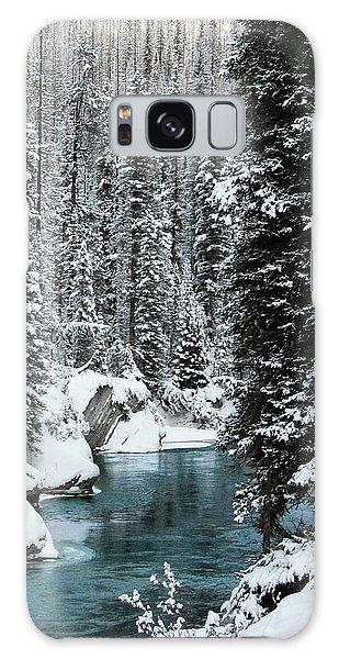 Verdant Creek - Winter 1 Galaxy Case by Stuart Turnbull