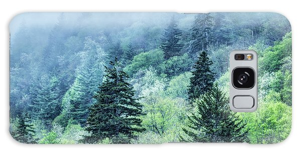 Verdant Forest In The Great Smoky Mountains Galaxy Case
