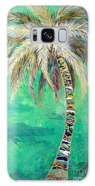 Verdant Palm Galaxy Case
