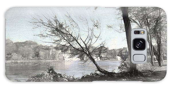Vergennes Falls Digital Charcoal Galaxy Case