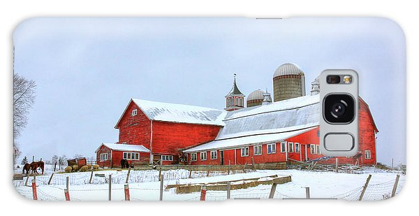Vermont Barn Galaxy Case by Sharon Batdorf