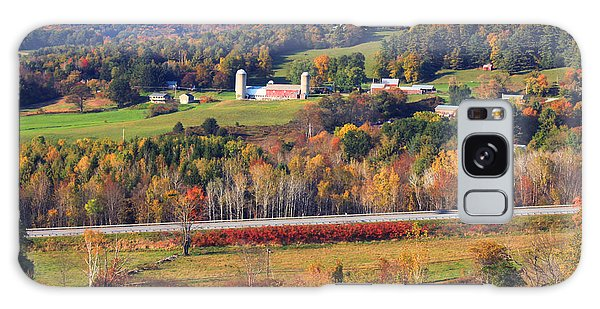 Vermont Countryside View Pownal Galaxy Case by John Burk