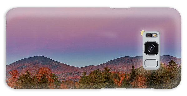 Vermont Fall, Full Moon And Belt Of Venus Galaxy Case