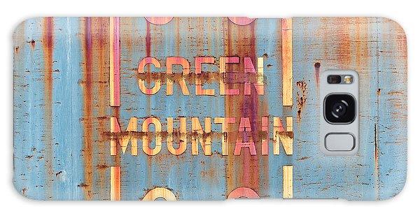 Vermont Green Mountain Railroad Rail Car Signage Galaxy Case
