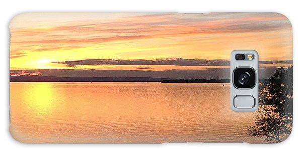 Vermont Sunset, Lake Champlain Galaxy Case by Felipe Adan Lerma