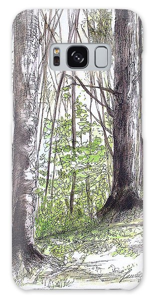 Vermont Woods Galaxy Case by Laurie Rohner