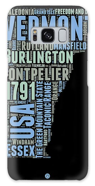 America Map Galaxy Case - Vermont Word Cloud 1 by Naxart Studio