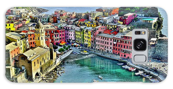 Vernazza Alight Galaxy Case by Frozen in Time Fine Art Photography