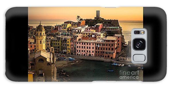Vernazza At Sunset Galaxy Case