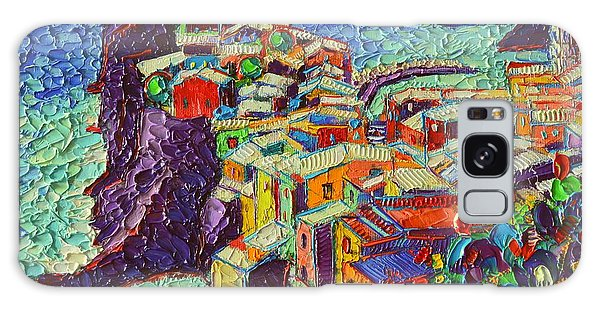 Vernazza Cinque Terre Italy 2 Modern Impressionist Palette Knife Oil Painting By Ana Maria Edulescu  Galaxy Case
