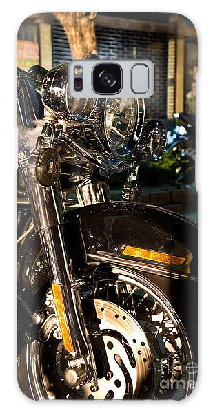 Vertical Front View Of Fat Cruiser Motorcycle With Chrome Fork A Galaxy Case