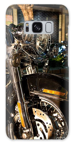 Vertical Front View Of Fat Cruiser Motorcycle With Chrome Fork A Galaxy Case by Jason Rosette