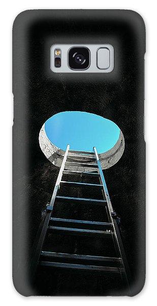 Vertical Step-ladder On Ceiling Window  Galaxy Case