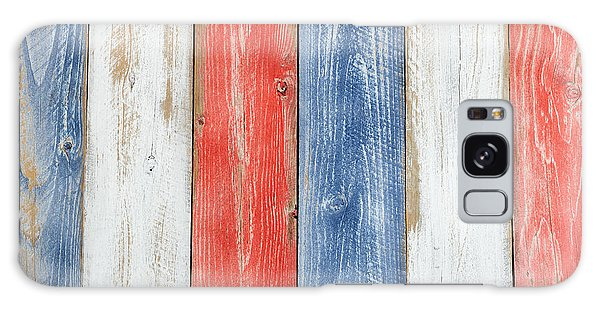 Vertical Stressed Boards Painted In Usa National Colors Galaxy Case
