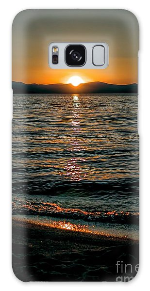 Vertical Sunset Lake Galaxy Case