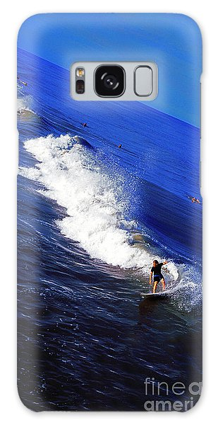 Surfer And Earths Curve  Galaxy Case