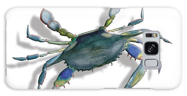 Very Blue Crab Galaxy Case