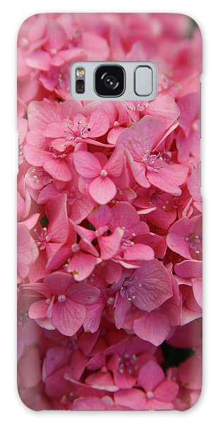 Very Pink Hydrangea Blossoms 2578 H_2 Galaxy Case