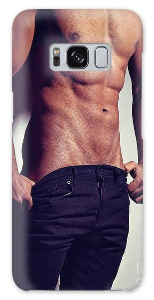 Very Sexy Man With Great Muscular Body Galaxy Case