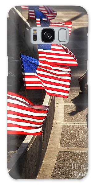 Veteran With Our Nations Flags Galaxy Case