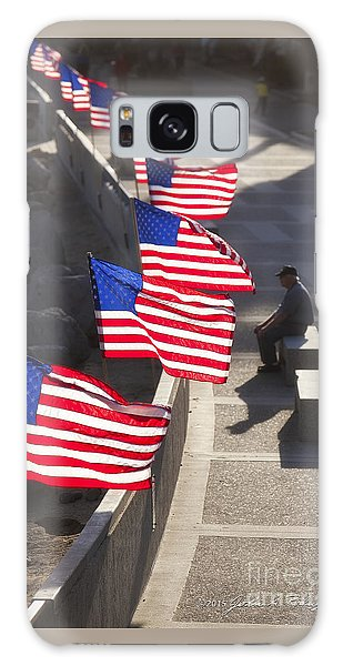 Veteran With United States Flags Galaxy Case by John A Rodriguez