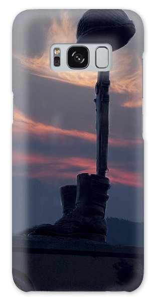 Veterans Monument At Sunset Galaxy Case